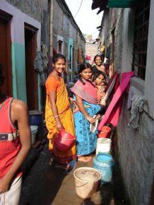 Slum school alley way