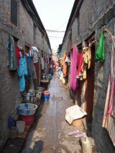 Slum school washing day